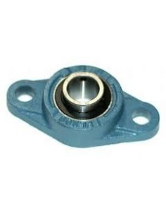 SFT7/8EC Self Lube Cast Iron Flange Bearing Unit With Eccentric Collar 2 Bolt
