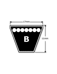 B68 17 x 11 x 1727 mm Internal - B Section V Belt