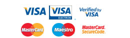 Securely pay with Visa, Mastercard or Maestro